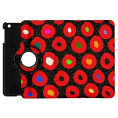 Polka Dot Texture Digitally Created Abstract Polka Dot Design Apple Ipad Mini Flip 360 Case