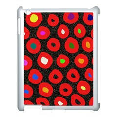 Polka Dot Texture Digitally Created Abstract Polka Dot Design Apple iPad 3/4 Case (White)