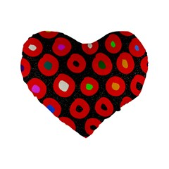 Polka Dot Texture Digitally Created Abstract Polka Dot Design Standard 16  Premium Heart Shape Cushions