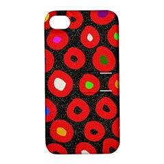 Polka Dot Texture Digitally Created Abstract Polka Dot Design Apple iPhone 4/4S Hardshell Case with Stand