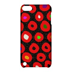 Polka Dot Texture Digitally Created Abstract Polka Dot Design Apple iPod Touch 5 Hardshell Case with Stand