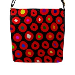 Polka Dot Texture Digitally Created Abstract Polka Dot Design Flap Messenger Bag (l)