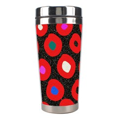 Polka Dot Texture Digitally Created Abstract Polka Dot Design Stainless Steel Travel Tumblers
