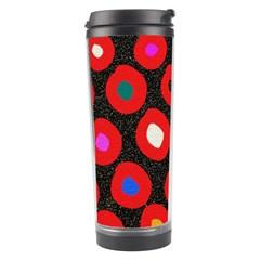 Polka Dot Texture Digitally Created Abstract Polka Dot Design Travel Tumbler