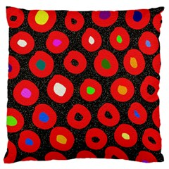 Polka Dot Texture Digitally Created Abstract Polka Dot Design Large Flano Cushion Case (two Sides)