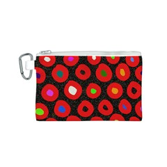 Polka Dot Texture Digitally Created Abstract Polka Dot Design Canvas Cosmetic Bag (s)
