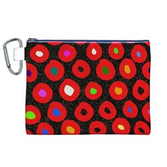 Polka Dot Texture Digitally Created Abstract Polka Dot Design Canvas Cosmetic Bag (xl)
