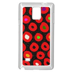 Polka Dot Texture Digitally Created Abstract Polka Dot Design Samsung Galaxy Note 4 Case (White)