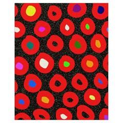 Polka Dot Texture Digitally Created Abstract Polka Dot Design Drawstring Bag (small)