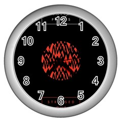 Albums By Twenty One Pilots Stressed Out Wall Clocks (Silver)