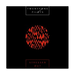Albums By Twenty One Pilots Stressed Out Face Towel
