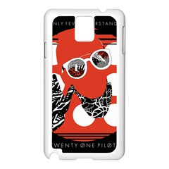 Twenty One Pilots Poster Contest Entry Samsung Galaxy Note 3 N9005 Case (White)