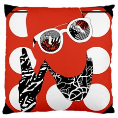 Twenty One Pilots Poster Contest Entry Large Flano Cushion Case (One Side)
