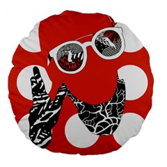 Twenty One Pilots Poster Contest Entry Large 18  Premium Flano Round Cushions