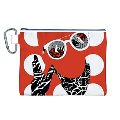 Twenty One Pilots Poster Contest Entry Canvas Cosmetic Bag (L)