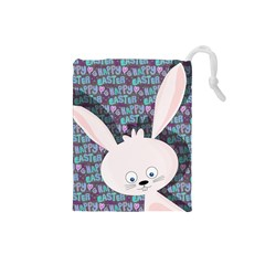 Easter bunny  Drawstring Pouches (Small)