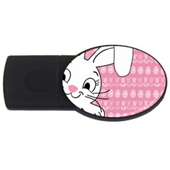 Easter bunny  USB Flash Drive Oval (1 GB)