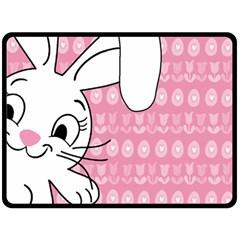 Easter bunny  Fleece Blanket (Large)