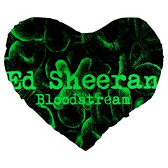 Bloodstream Single ED Sheeran Large 19  Premium Heart Shape Cushions