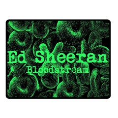 Bloodstream Single Ed Sheeran Double Sided Fleece Blanket (small)