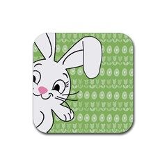 Easter bunny  Rubber Coaster (Square)