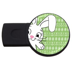 Easter bunny  USB Flash Drive Round (1 GB)