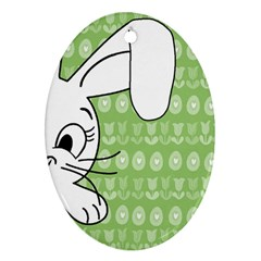 Easter bunny  Oval Ornament (Two Sides)