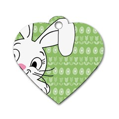 Easter bunny  Dog Tag Heart (One Side)