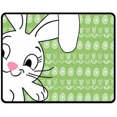 Easter bunny  Double Sided Fleece Blanket (Medium)