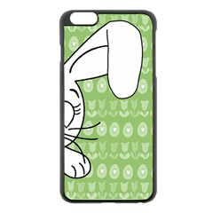 Easter bunny  Apple iPhone 6 Plus/6S Plus Black Enamel Case