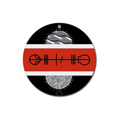 Poster Twenty One Pilots Rubber Round Coaster (4 pack)