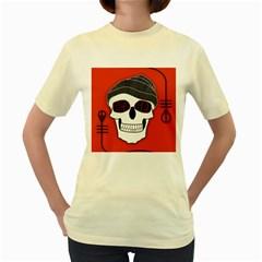 Poster Twenty One Pilots Skull Women s Yellow T-Shirt