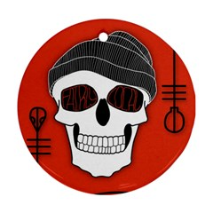 Poster Twenty One Pilots Skull Round Ornament (two Sides)