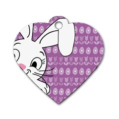 Easter Bunny  Dog Tag Heart (two Sides)