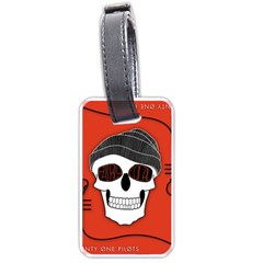 Poster Twenty One Pilots Skull Luggage Tags (one Side)