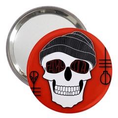 Poster Twenty One Pilots Skull 3  Handbag Mirrors