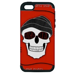 Poster Twenty One Pilots Skull Apple Iphone 5 Hardshell Case (pc+silicone)