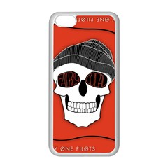 Poster Twenty One Pilots Skull Apple iPhone 5C Seamless Case (White)