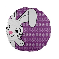 Easter bunny  Standard 15  Premium Flano Round Cushions