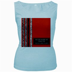 Poster Twenty One Pilots We Go Where We Want To Women s Baby Blue Tank Top