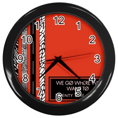 Poster Twenty One Pilots We Go Where We Want To Wall Clocks (black)