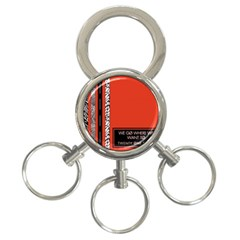 Poster Twenty One Pilots We Go Where We Want To 3-Ring Key Chains