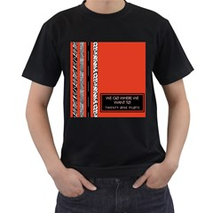 Poster Twenty One Pilots We Go Where We Want To Men s T-Shirt (Black) (Two Sided)