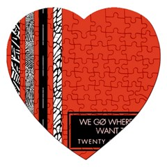 Poster Twenty One Pilots We Go Where We Want To Jigsaw Puzzle (Heart)