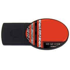 Poster Twenty One Pilots We Go Where We Want To Usb Flash Drive Oval (4 Gb)