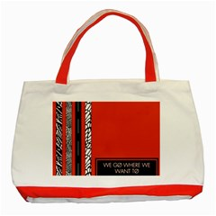 Poster Twenty One Pilots We Go Where We Want To Classic Tote Bag (Red)