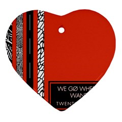 Poster Twenty One Pilots We Go Where We Want To Heart Ornament (Two Sides)