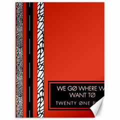 Poster Twenty One Pilots We Go Where We Want To Canvas 12  x 16