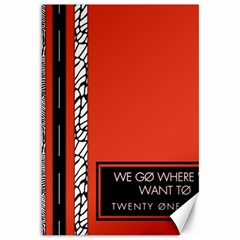 Poster Twenty One Pilots We Go Where We Want To Canvas 12  x 18