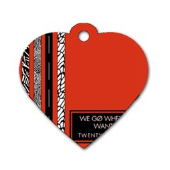 Poster Twenty One Pilots We Go Where We Want To Dog Tag Heart (One Side)